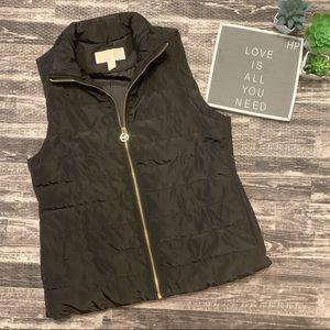 Michael Kors Black Zip Up Puffer Vest